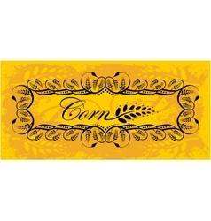 Corn frame in gold vector