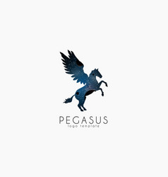 Cosmic pegasus Pegasus logo Creative logo Stars vector image