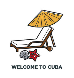 Cuba travel famous holiday vacations vector
