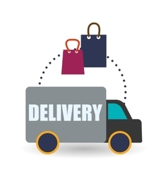 Delivery design Shopping icon White background vector image