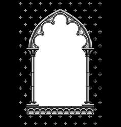 Engraved vintage drawing a classic gothic vector