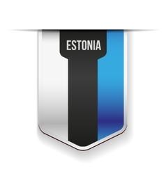 Estonia flag ribbon vector image