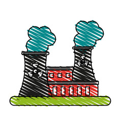 Factory cartoon doodle vector