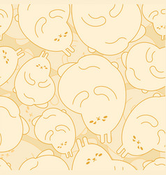 fat rabbit pattern seamless thick hare background vector image