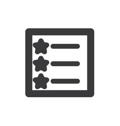 favorites list icon vector image