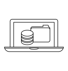 Figure computer web hosting icon design vector