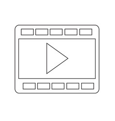 film strip icon design vector image