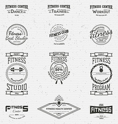 Fitness club badges logos and labels for any use vector