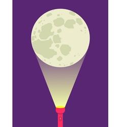 flashlight moon vector image