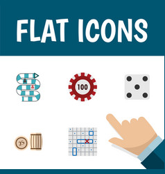 Flat icon play set of sea fight multiplayer vector