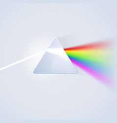 Glass prism on light background vector