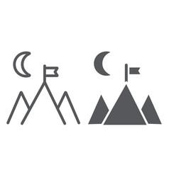 goal achievement line and glyph icon motivation vector image