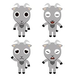 Goat Cute cartoon vector image