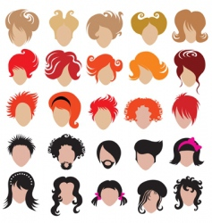 hair styling icons vector image vector image