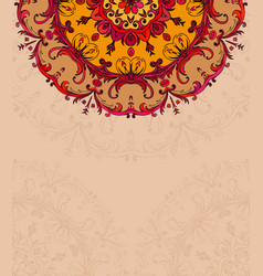 Hand drawing background with lace ornament vector
