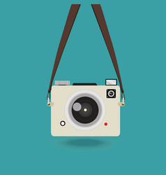 Hanging camera photo mini vector