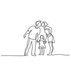 happy family father and mother kissing daughter vector image