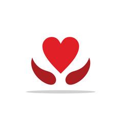 Heart love sign logo vector