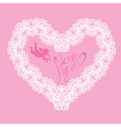 Hearts lace 5 380 vector