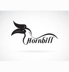 hornbill is text on white background wild animals vector image