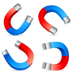 horseshoe magnets vector image