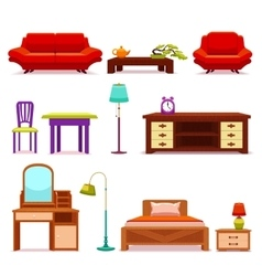 Hotel Furniture Set vector