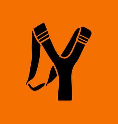 Hunting slingshot icon vector