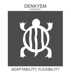 Icon with african adinkra symbol denkyem vector