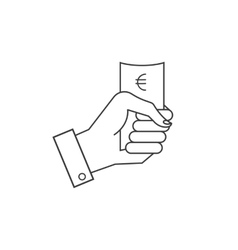 icons hand holding money vector image