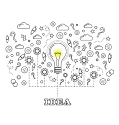 Idea Concept with Light Bulb vector image