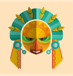image a mask mayans with ethnic ornament vector image