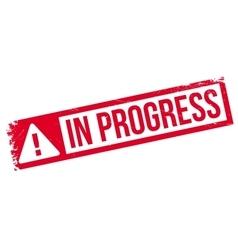 In progress rubber stamp vector