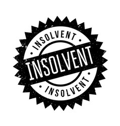 insolvent rubber stamp vector image