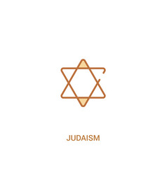 Judaism concept 2 colored icon simple line vector