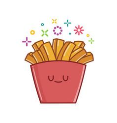 Kawaii french fries icon cartoon vector