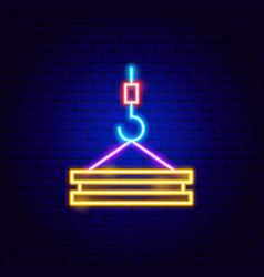 lifting load neon sign vector image