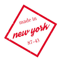 Made in new york rubber stamp vector