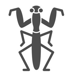 Mantis solid icon insects concept beetle sign on vector