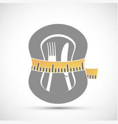 Measuring tailor tape around plate vector