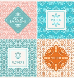 mono line graphic design templates vector image