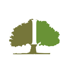 Oak tree letter i vector