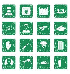 Phobia symbols icons set grunge vector
