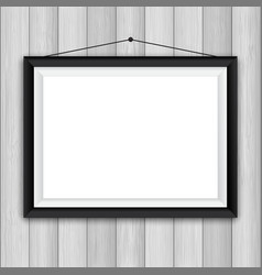 Picture frame on wood background 1503 vector