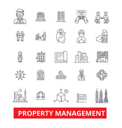 Property management maintenance real estate vector