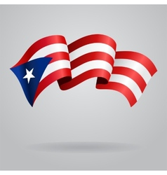 Puerto Rican waving Flag vector