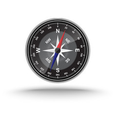 Realistic compass vector