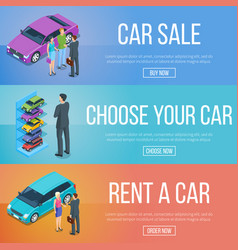 Rent and sale of cars vector