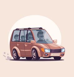 road trip flat vector image