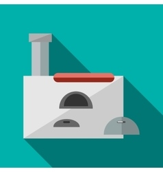 Russian stove icon in flat style vector image