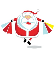 Santa shopping vector image